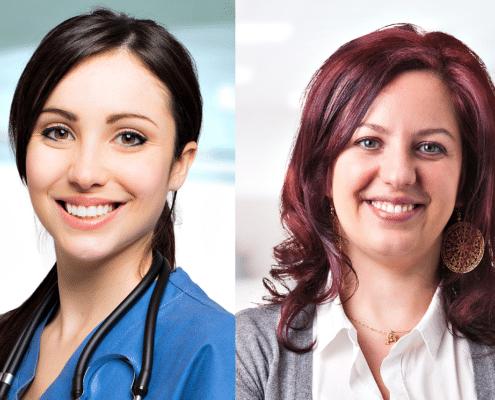 Kuvassa on vierekkäin opettaja ja hoitaja. Kuva kuuluu Edumarin blogitekstiin otsikolla: Mikä yhdistää opettajaa ja hoitajaa?